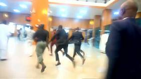 Watch: Chaos in Nigerian Senate as 'hoodlums' steal mace in packed chamber
