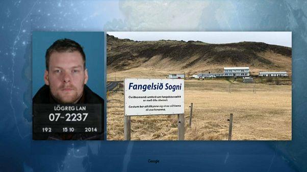 Ein Foto von Sindri Thor Stefansson sowie dem Gefängnis