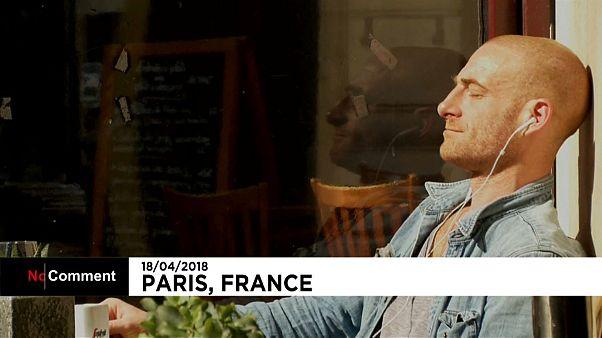 گرمای مطبوع هوا در پاریس