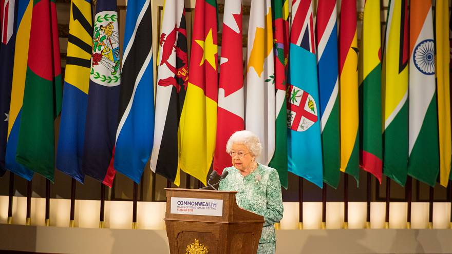 The Queen addresses Commonwealth leaders