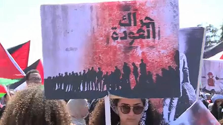 A palesztinok a Nakbára emlékeznek