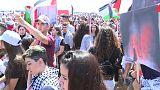 """Israele, migliaia di arabi manifestanto per la Nakba, la """"marcia del ritorno"""""""