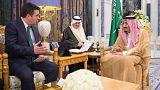 دیدار پادشاه عربستان سعودی و رئیس کمیته فرعی همکاریهای ناتو