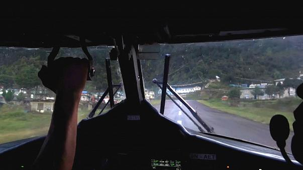 Watch: What's it like to fly into one of the world's most dangerous airports?