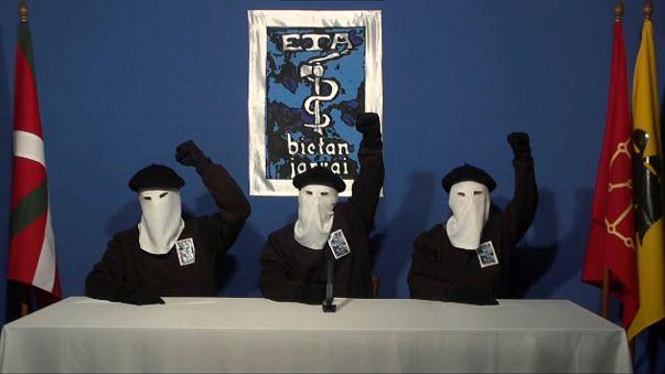 Drei Mitglieder der baskischen Untergrundorganisation ETA.