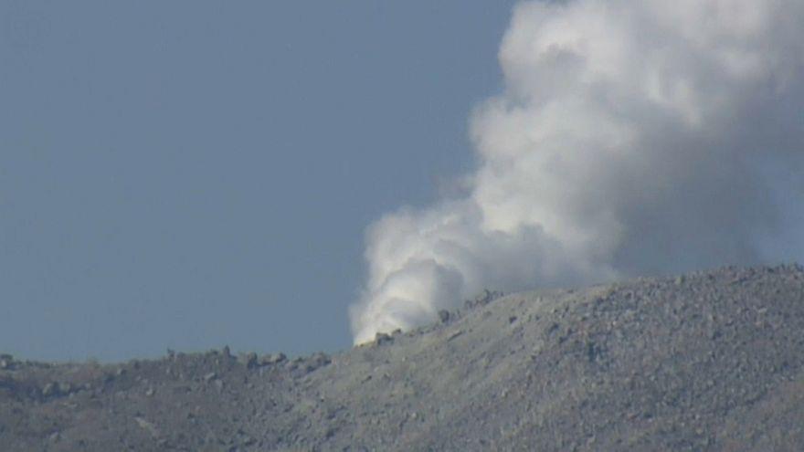 В Японии проснулся спавший 250 лет вулкан