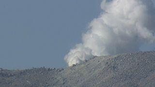 انفجار بركان في جزيرة كيوشو اليابانية لأول مرة منذ 250 عاماً