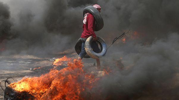 راهپیمایی بازگشت فلسطینیان به غزه به خون کشیده شد