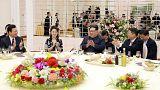 North Korean leader Kim Jong Un and his wife Ri Sol Ju