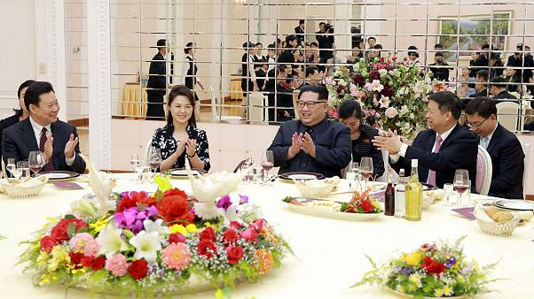 North Korean leader Kim Jong Un and his wife Ri Sol Ju