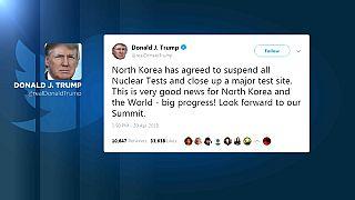 """La suspensión de los test nucleares es una """"muy buena noticia para Corea del Norte y el mundo"""", según Trump"""