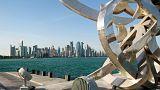 نمایی از دوحه، پایتخت قطر و پهنه خلیج فارس
