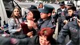 Watch: Demonstrators wrestle with police at Armenia anti-PM protest