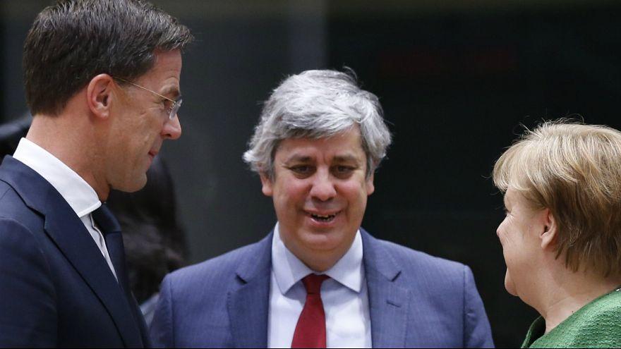 Primeiro-ministro da Holanda e chanceler da Alemanha com Centeno