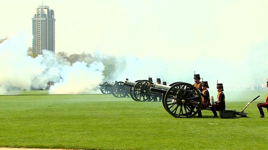 شاهد: لندن تحيي الملكة إليزابيث الثانية بالمدافع