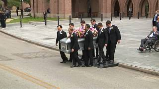 Former First Lady Barbara Bush's funeral took place on Saturday in Texas