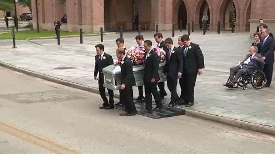 Eltemették Barbara Bush korábbi first ladyt