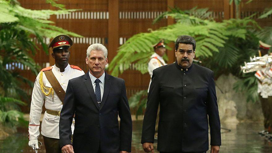 نيكولاس مادورو يزور الرئيس الكوبي الجديد