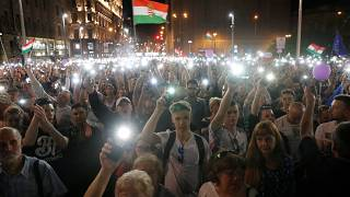 A Budapest, 30 000 personnes marchent contre VIktor Orban