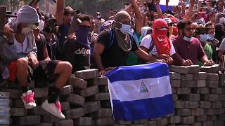 Protesters demonstrate against government reforms in Nicaragua