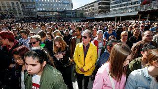Laut und leise in Stockholm: Gedenken an Avicii