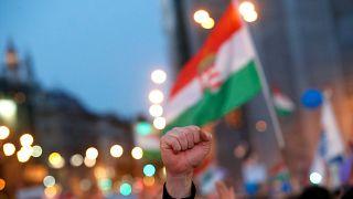 Macaristan'da seçim protestoları sürüyor