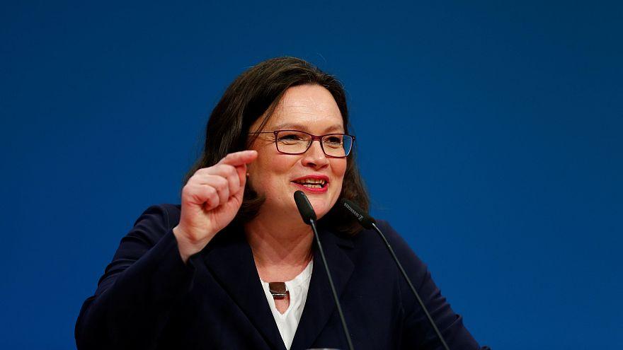 Andrea Nahles mit 66,35 % zur SPD-Chefin gewählt