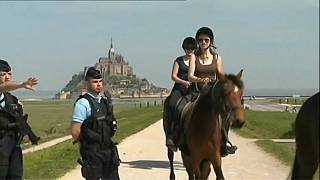 Panik am Mont-Saint-Michel in Frankreich