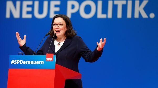 Andrea Nahles, une voix forte pour un SPD affaibli