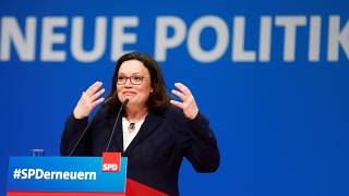 Andrea Nahles az SPD küldöttgyűlésén