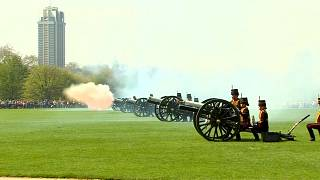 London gun salute marks Britain's Queen Elizabeth's 92nd birthday