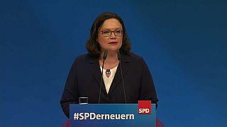 Andrea Nahles, primeira mulher eleita líder do SPD