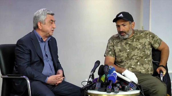 Detenido el principal líder opositor armenio, Nikol Pashinián
