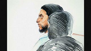 Salah Abddüsselam'ın mahkeme sırasında çizilmiş profil resmi