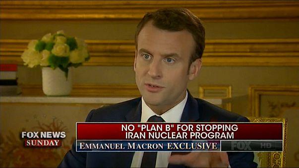 Fransa Cumhurbaşkanı Macron Fox haber kanalında özel mülakat verirken