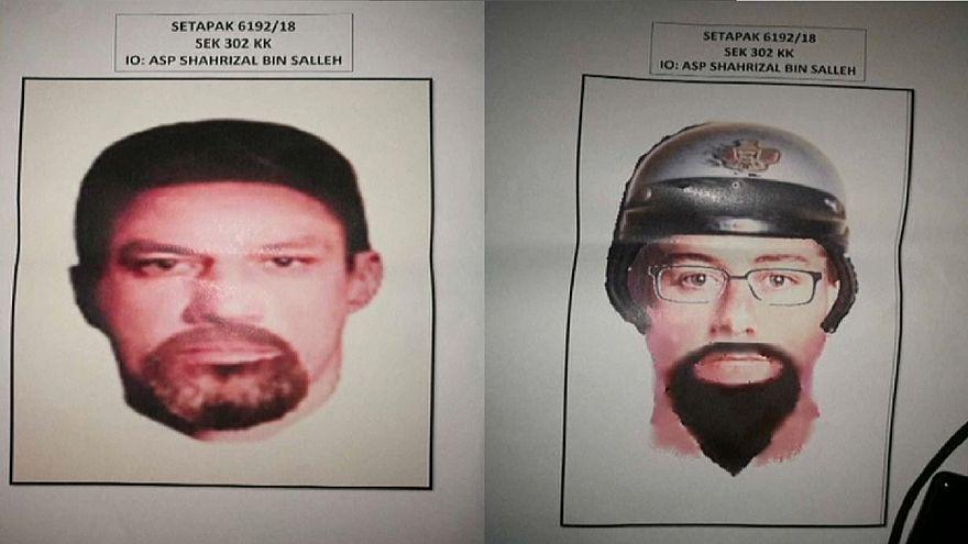 رسمان المتهمين باغتيال العالم الفلسطيني فادي البطش - الشرطة الماليزية