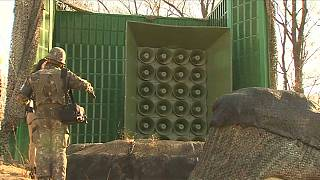 South Korea turns off propaganda speakers on North Korean border