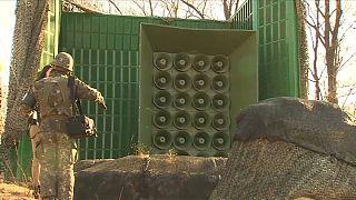 South Korea turns off propaganda speakers on North Korean border