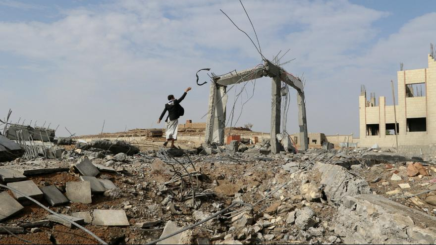 محل یکی از حملات هوایی به یمن