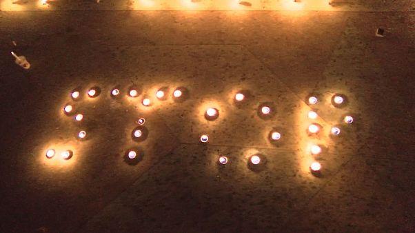 Vigília contra a violência em Cabul