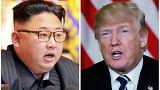 الرئيسان، الأمريكي دونالد ترامب (يمين) والكوري الشمالي كيم جونغ أون