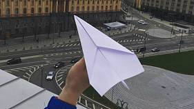 Russians protest Moscow's Telegram ban with paper planes