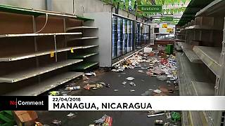 Scènes de pillages au Nicaragua
