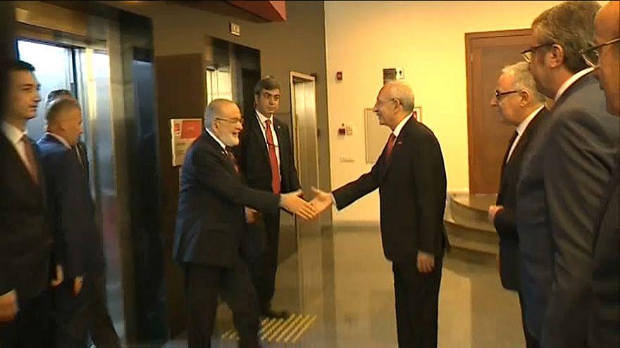 Kemal Kılıçdaroğlu incontra Temel Karamollaoğlu