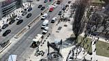 Nine dead after van ploughed into people in Toronto- police