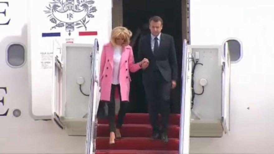 Az Egyesült Államokba érkezett a francia elnök