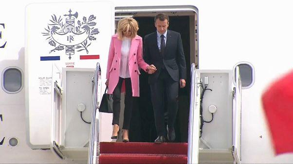 Macron visita Trump