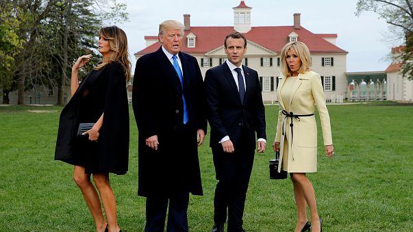 Um tapete vermelho para Macron na América de Trump