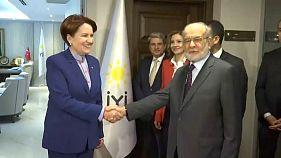 Temel Karamollaoğlu Meral Akşener ile görüşüyor