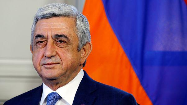 Ermenistan'da gündem 'anma törenleri' değil Sarkisyan'ın istifası oldu